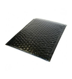 180mm x 255mm Black Padded Bubble Mailing Bag (Pack of 100)