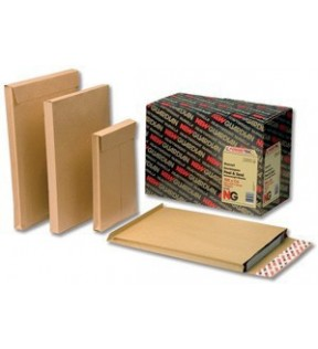 241mm x 165mm Pack of 100 Gusseted Envelopes